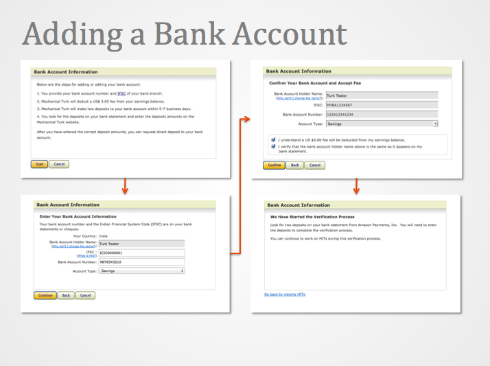 Image of the add bank account sequence
