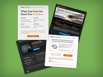 Collage of landing pages