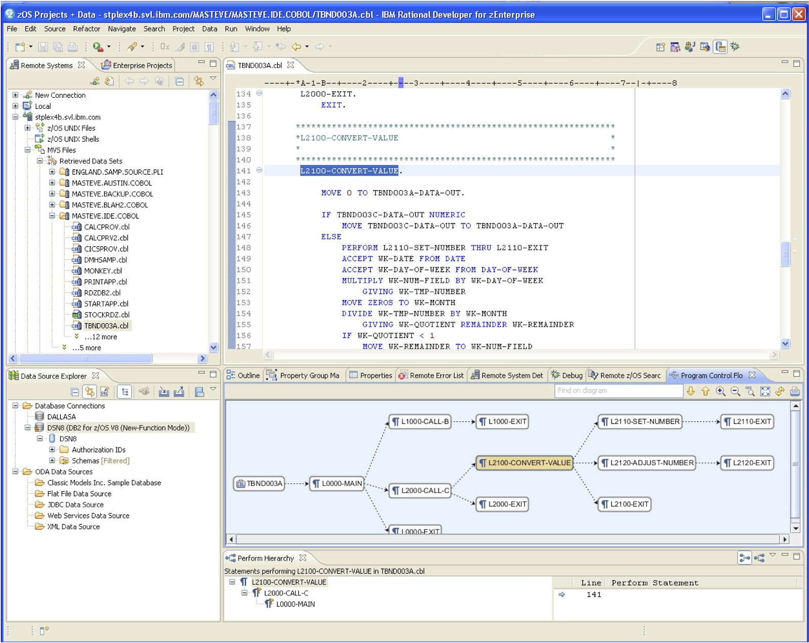 Image of the Rational Developer for System z IDE UI