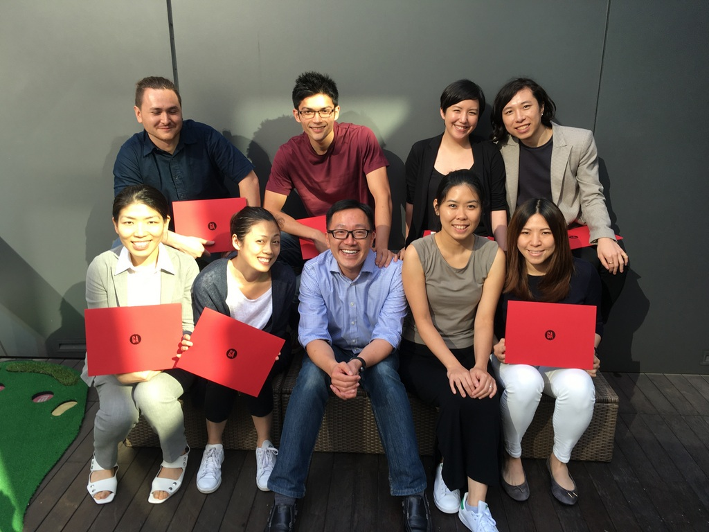 Graduation picture of our UXDI class